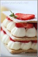 strawberries and cream dessert