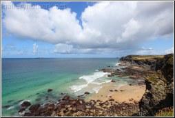 view over Trevone cliffs