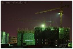 cranes at work