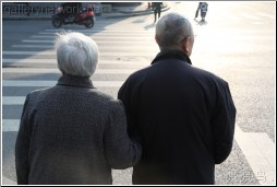 old couple crosswalk