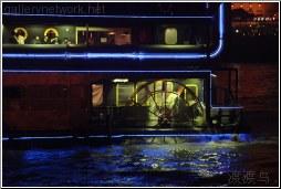 riverboat at night