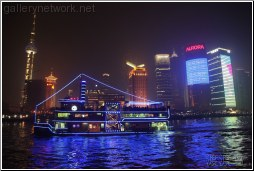 shanghai skyline from the river