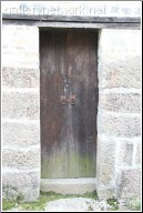 old narrow door