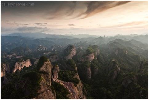 china mountain sunrise