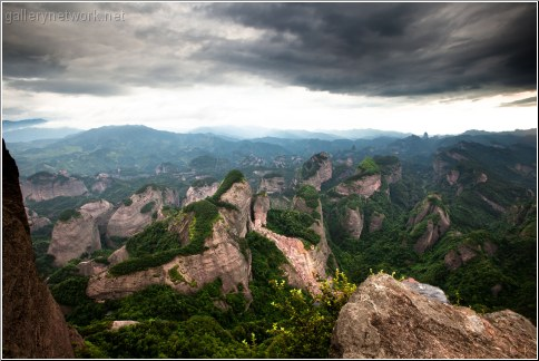 china mountains overcast