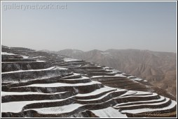 snow covered terraces