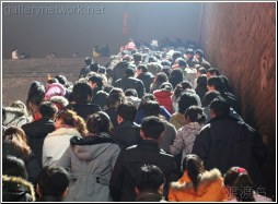new years crowd