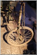 vintage old bicycle wheel