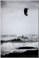 kite surfer-b+w