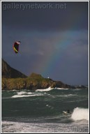 kite surfer under the rainbow !