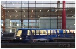 evening airport train