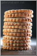 stacked biscuits
