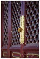 red door gold handle