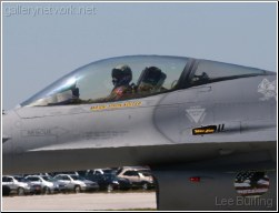 F16 cockpit and pilot