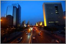 beijing dusk street scene