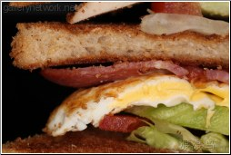 egg bacon sandwich