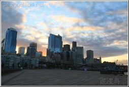 downtown seattle sunrise