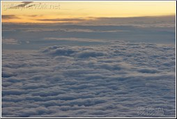 dusk over clouds
