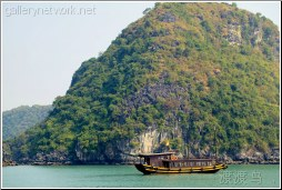 catba vietnam junk boat