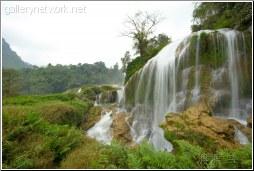 country waterfall - 渡渡鸟 .