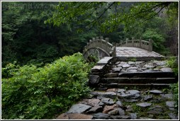 china lushan cobblestone bridge - C K