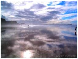 Walking at ocean side
